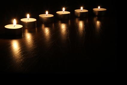 Kerzen bogen