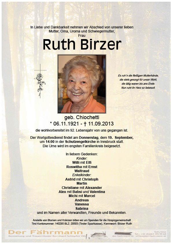 Birzer Ruth