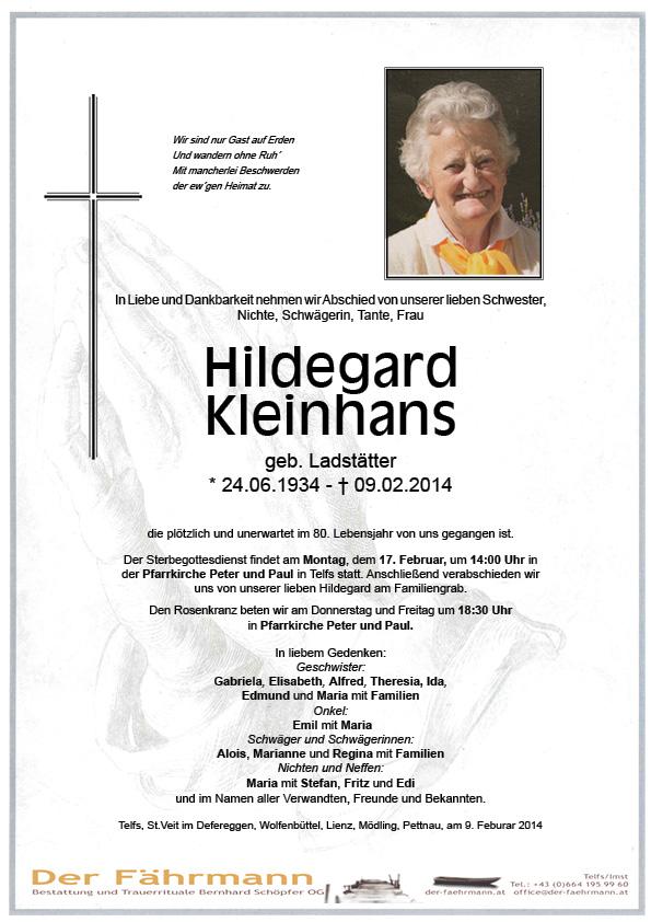 Kleinhans Hildegard