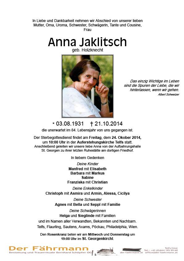Parte Anna Jaklitsch