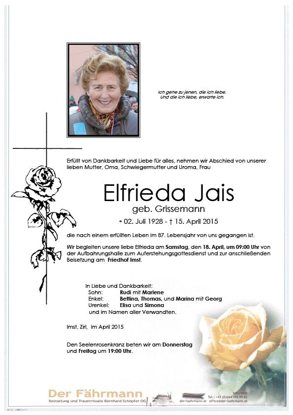 Todesanzeige Jais Elfrieda