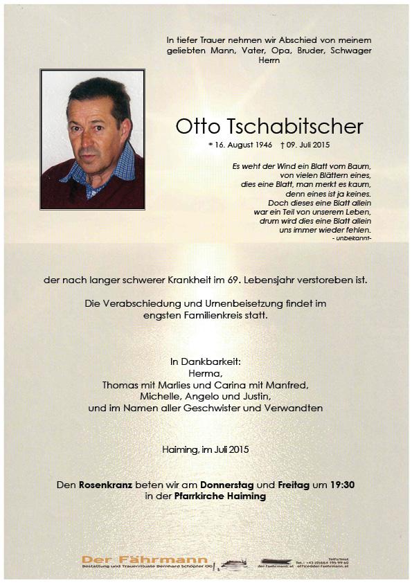 Parte Otto Tschabitscher