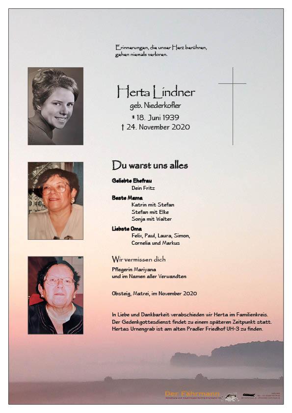 parte Herta Lindner