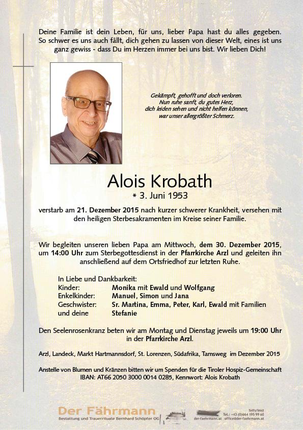 Parte Krobath Alois
