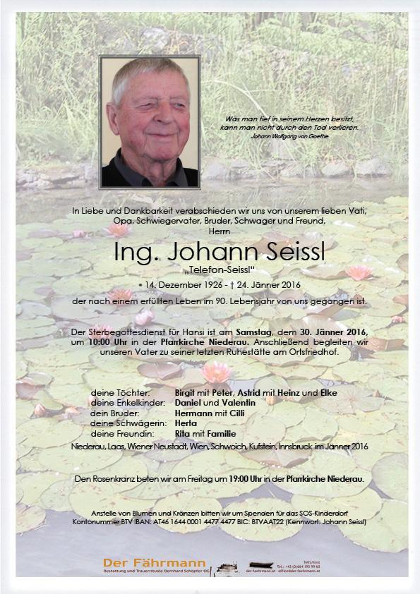 Parte Johann Seissl