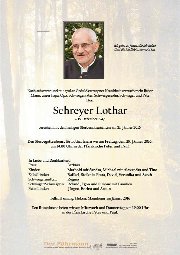 Lothar Schreyer Parte