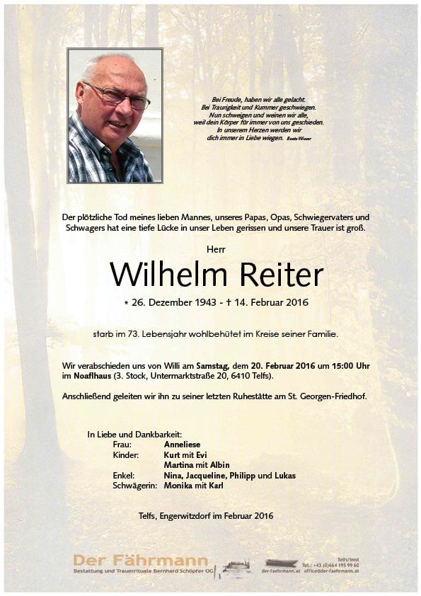 Reiter Wilhelm
