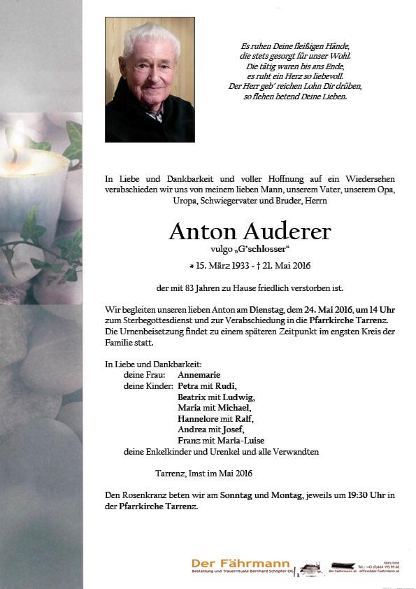 Parte Anton Auderer