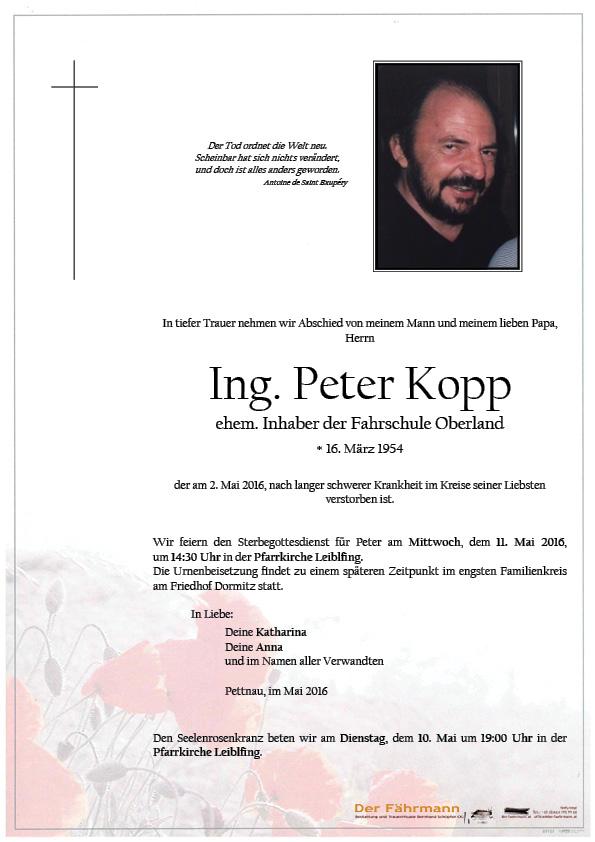 Parte Ing. Peter Kopp