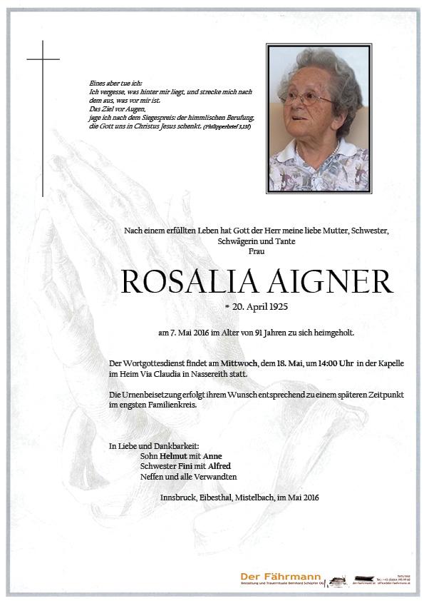 Parte Rosalia Aigner