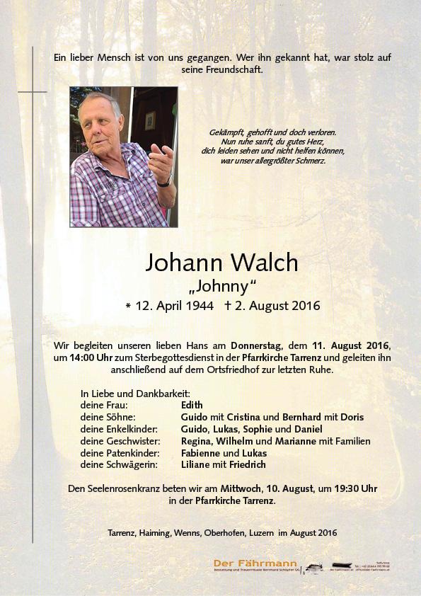Parte Walch Johann