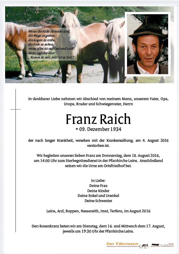 Parte Reich Franz