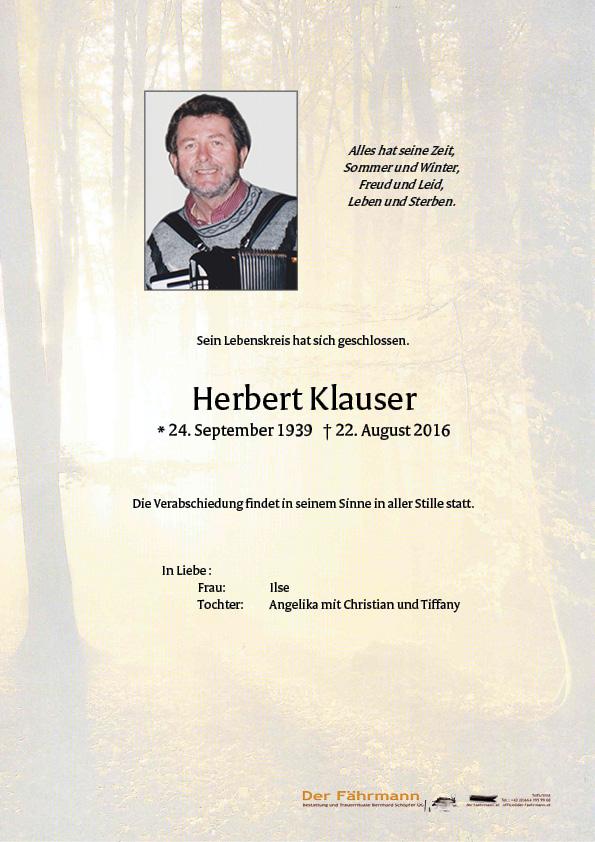 Parte Klausner Herbert