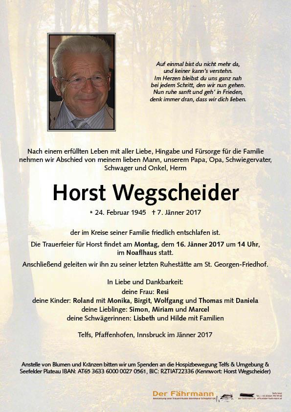 Parte Horst Wegscheider