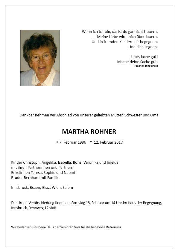 Parte Martha Rohner