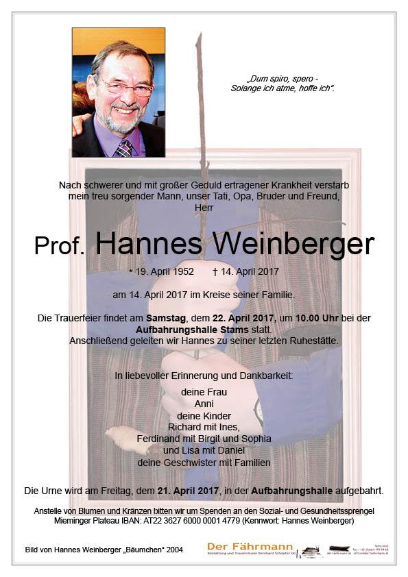 Parte Prof Hannes Weinberger