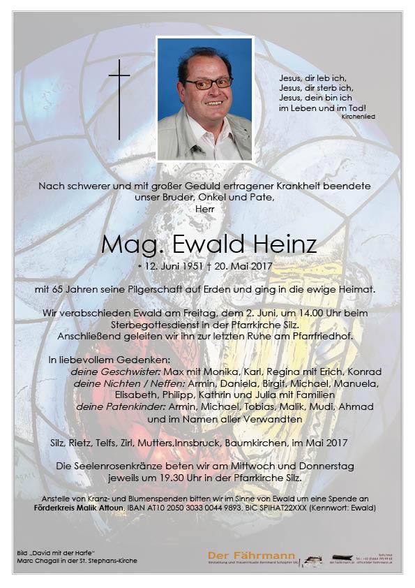 Parte Mag. Ewald Heinz