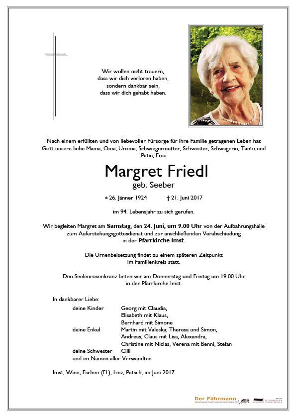parte Margret Friedl