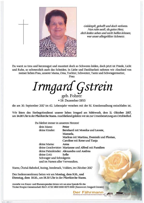 parte Irmgard Gstrein