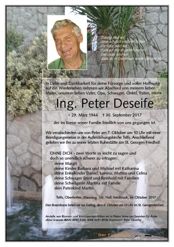 Parte Deseife Peter