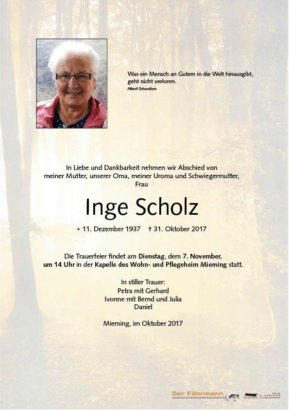 parte Scholz Inge