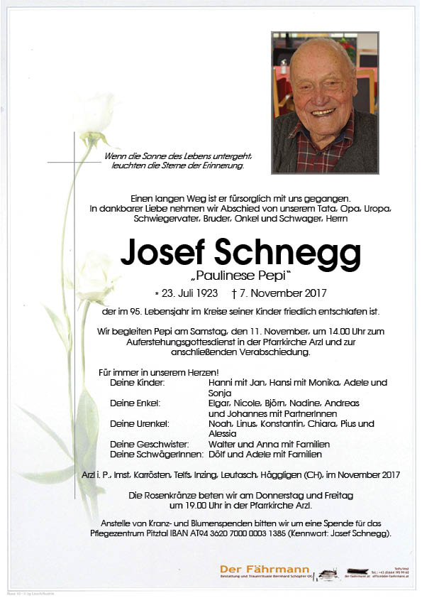 Parte Josef Schnegg