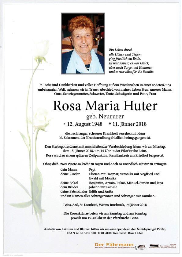 Parte Rosa Maria Huter