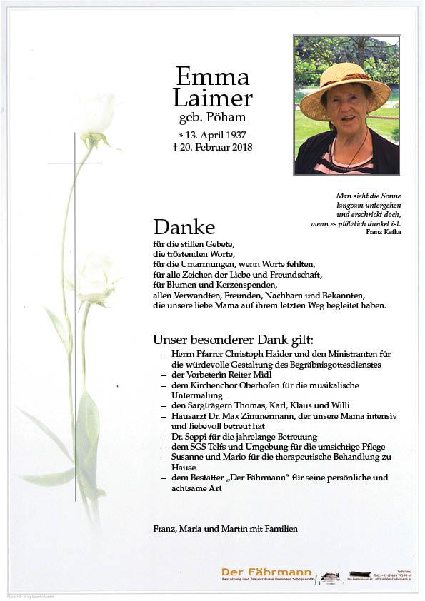 Danksagung Emma Laimer