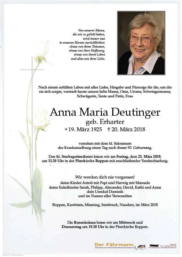 Parte Anna Maria Deutinger