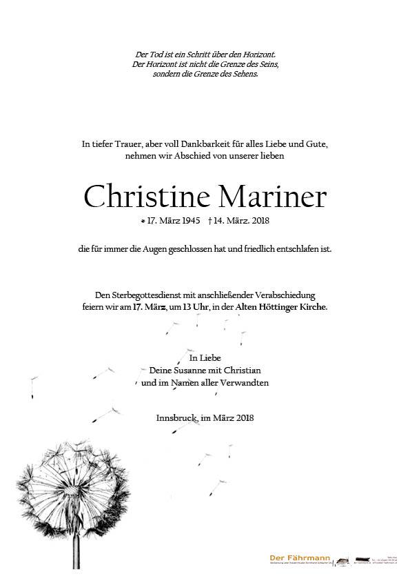 Parte Christine Mariner