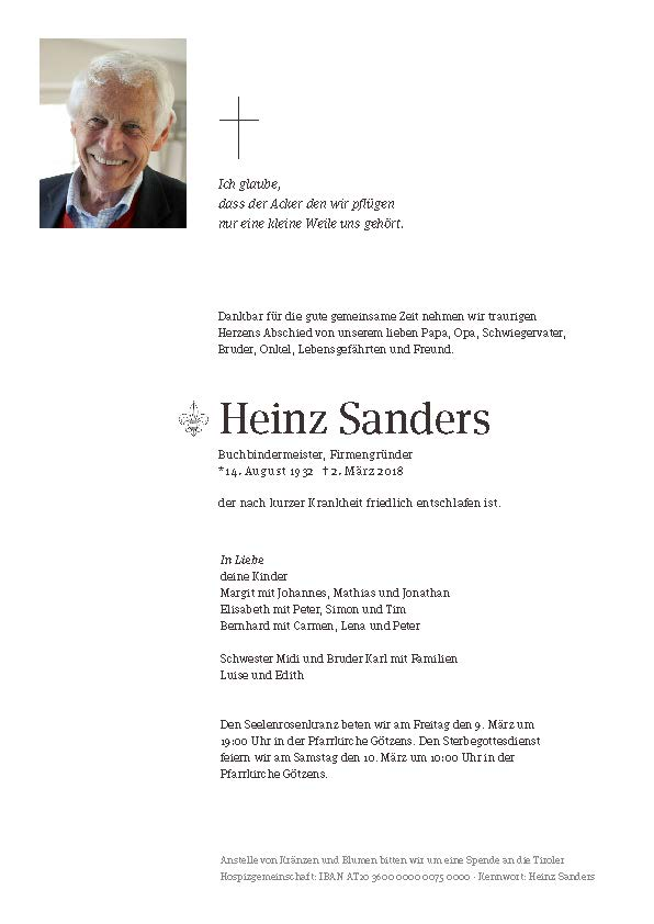 Parte Heinz Sanders