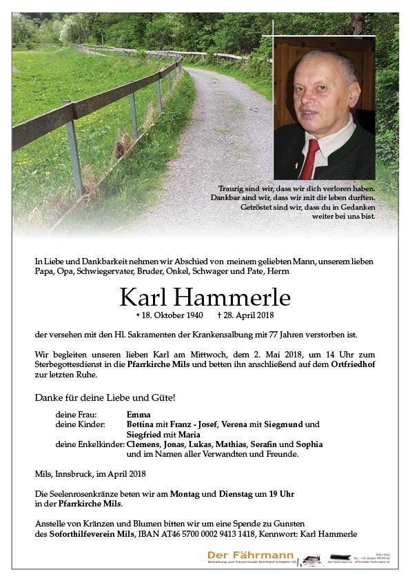 parte Karl Hammerle