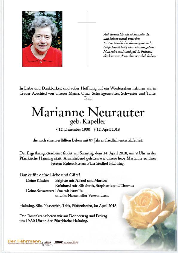 parte Marianne Neurauter