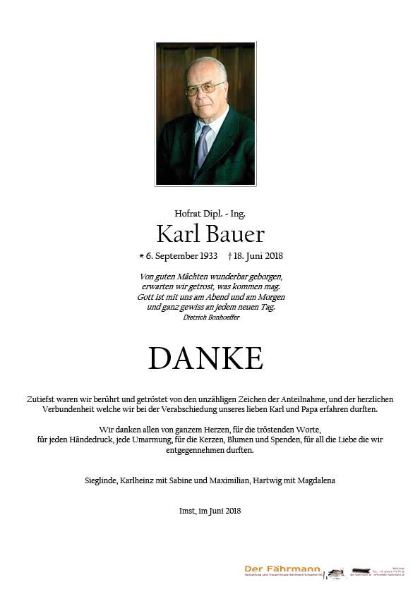 danksagung Karl Bauer