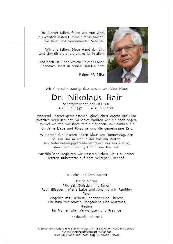Parte Dr. Klaus Bair