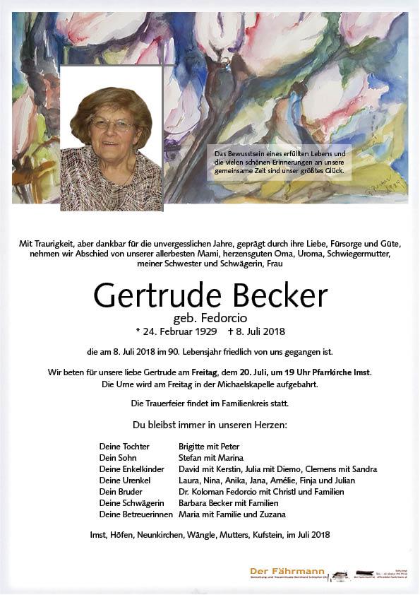 parte Gertrude Becker