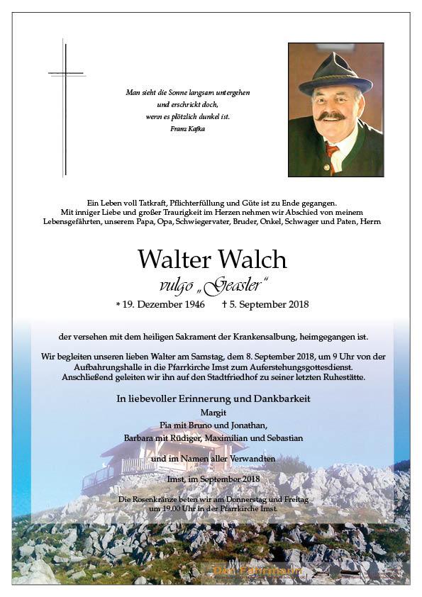 parte Walter Walch