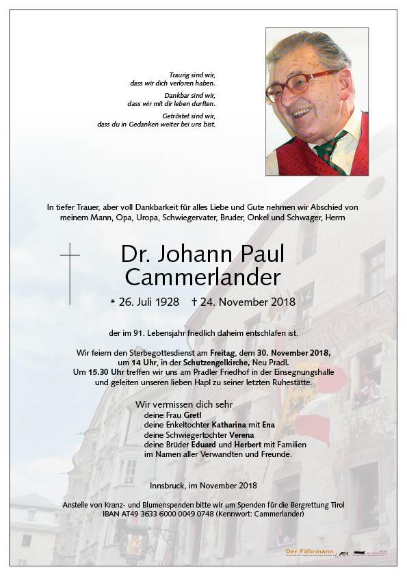 parte johann Paul Cammerlander