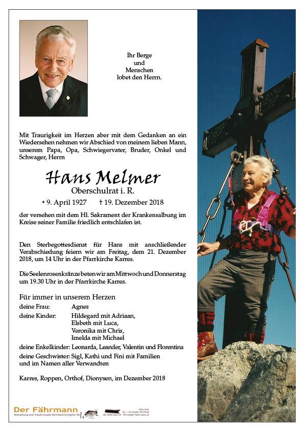 parte Hans Melmer