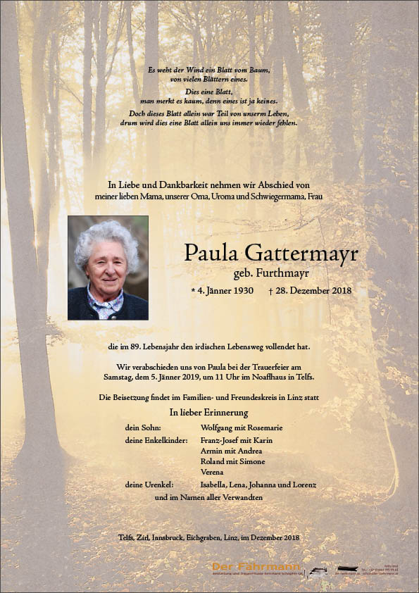 parte Paula Gattermayr