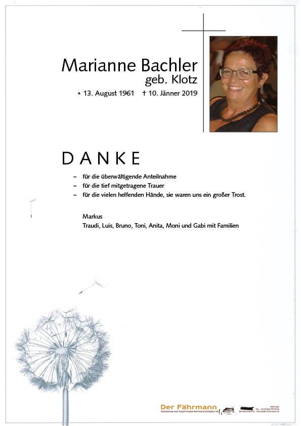 Danksagung Marianne Bachler
