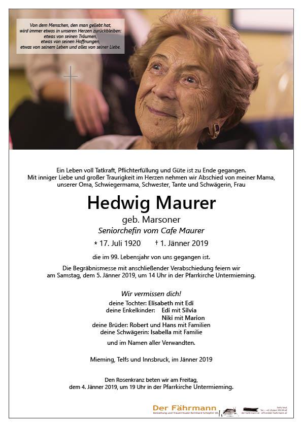 parte Hedwig Maurer