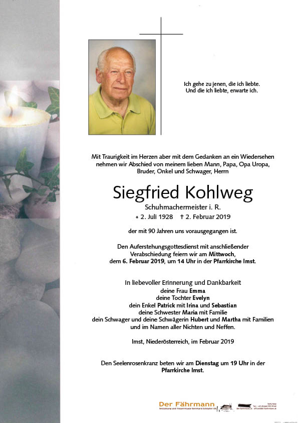 parte Siegfreid Kohlweg