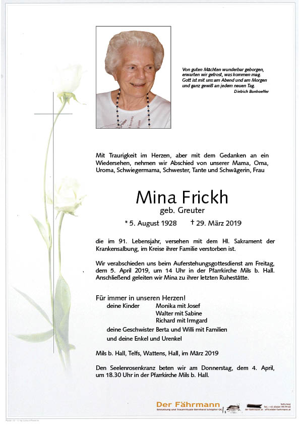 Parte Mina Frickh