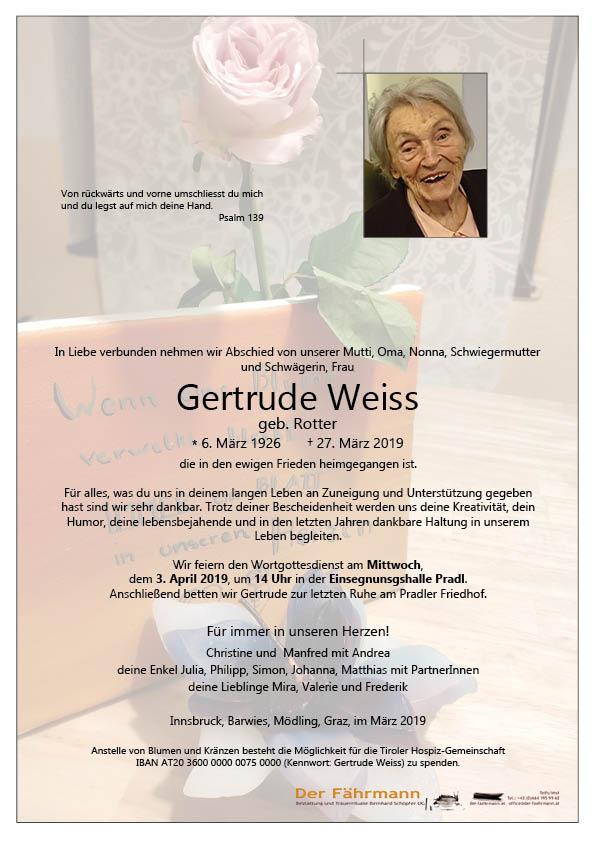 parte Gertraud Weiss