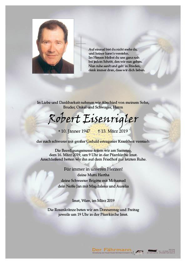 parte robert Eisenrigler