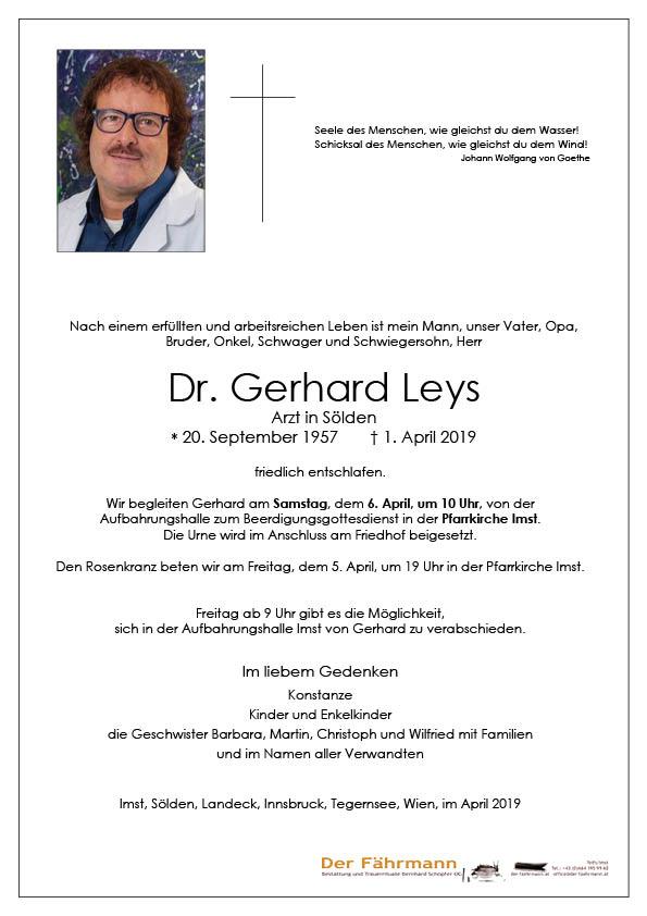 parte Dr. Gerhard Leys
