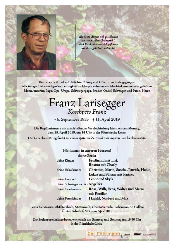 parte Larisegger Franz