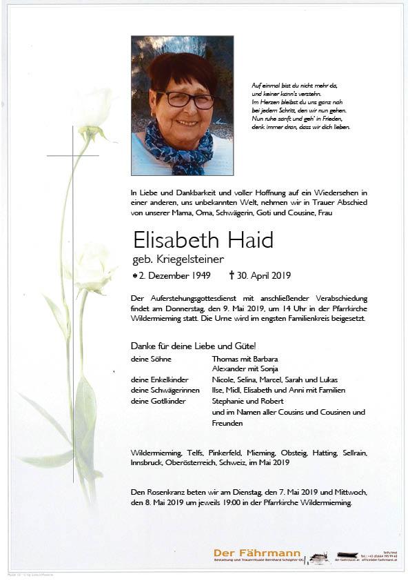 Parte Elisabeth Haid