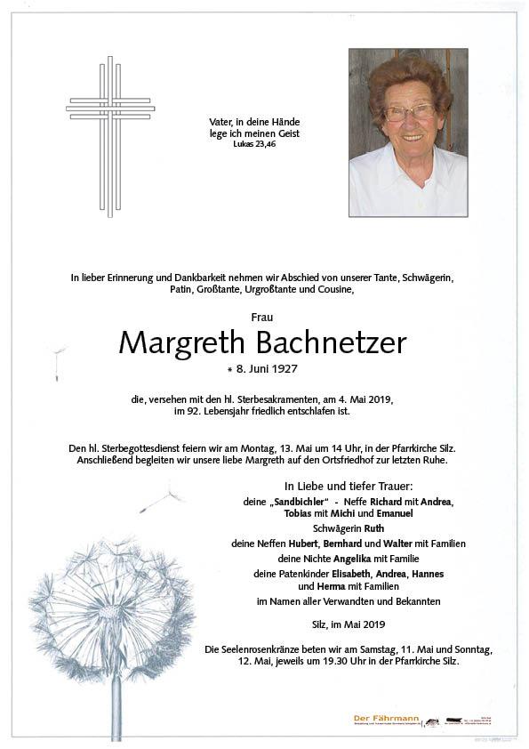 parte Margreth Bachnetzer